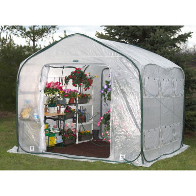 Flowerhouse FHFH700 9' Farm House Easy Pop-Up Greenhouse