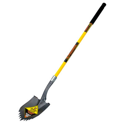 "Seymour-Structron S710 49630 48"" Long Fiberglass Handle Notched  Round Pt Super Shovel¨"""