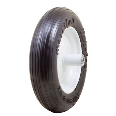 "Marathon 00003 13"" Ribbed Flat Free Wheelbarrow Tire"""
