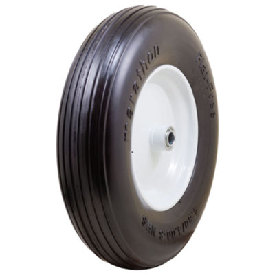"Marathon 00063 4.80/4.00-8"" Ribbed Flat Free Wheelbarrow Tire"""