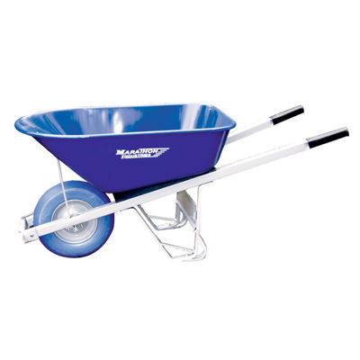 Marathon 70002 6 Cubic Feet Steel Wheelbarrow