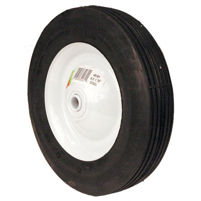 "Maxpower 335181 8"" x 1.75"" Ribbed Tread Steel Wheel"""