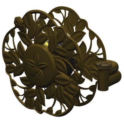 Ames 2397200 Antique Bronze Decorative Swivel WallMount Hose Reel