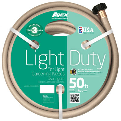 "Apex 7400-50 1/2"" X 50' Light Duty Garden Hose"""
