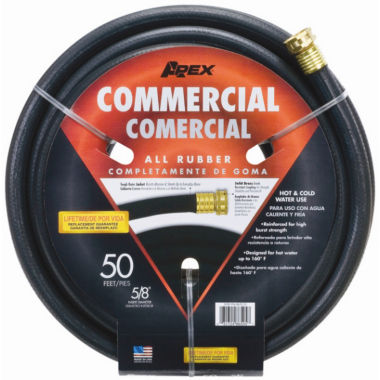 "Apex 5/8"" X 50' Industrial Duty All Rubber Hose"""