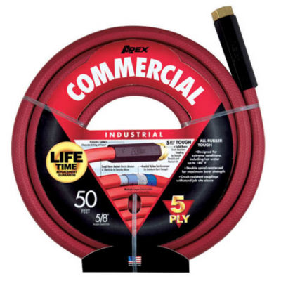 """Apex 5/8"""" X 50' Industrial Duty All Rubber Hose"""""""