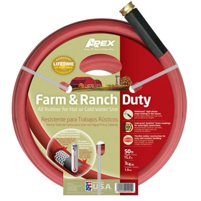 "Apex 969RR-50 3/4"" X 50' Farm & Ranch Duty All Rubber Hose"""