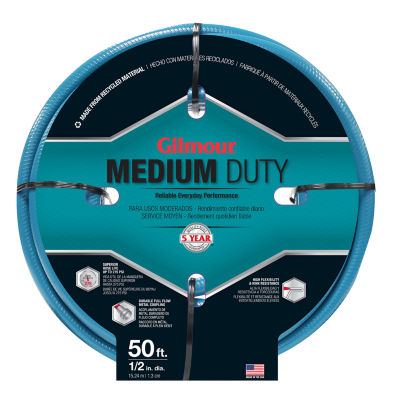 "Gilmour 15012050 1/2"" X 50' Medium Duty Garden Hose"