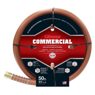 """Gilmour 25034050 50' X 3/4"""" Red Rubber & Vinyl Commercial Hose"""""""