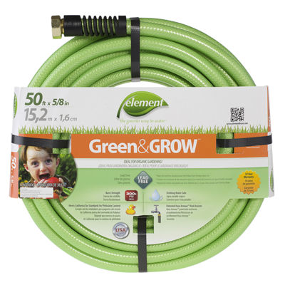 "Swan Hose ELGG58050 5/8"" X 50' Element Green & Grow Water Hose"""