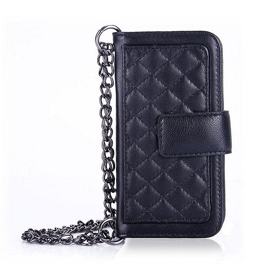 Genuine Leather Phone Case and Wallet Combination with Chain for Samsung Galaxy S7