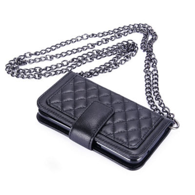 Genuine Leather Phone Case And Wallet Combination With Chain