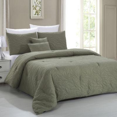 Nottingham Leaf 5pc Embossed Comforter Set
