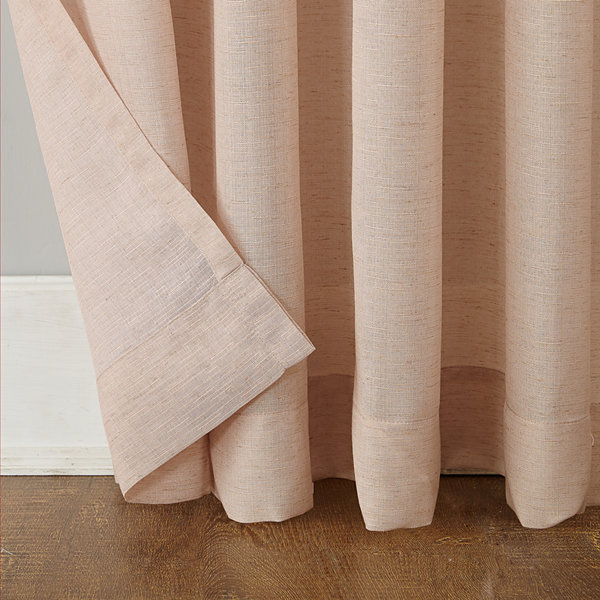 Amalfi Linen Blend Textured Sheer Rod Pocket Curtain Panel