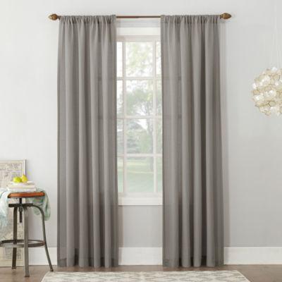 Amalfi Linen Blend Textured Sheer Rod Pocket Curtain Panel
