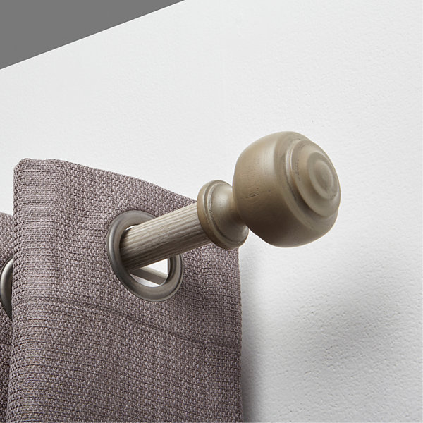 JCPenney Home Rustic Knob 1 IN Curtain Rod