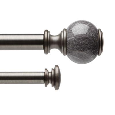 Liz Claiborne Marble Ball Double Curtain Rod