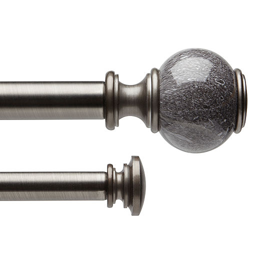 Liz Claiborne Marble Ball Double Curtain Rod