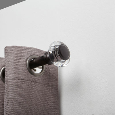Liz Claiborne Everett Glass 1 IN Curtain Rod