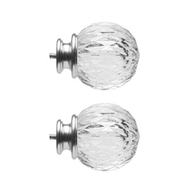 JCPenney Home Mix & Match Faceted Ball 2-pc. Curtain Rod Finials