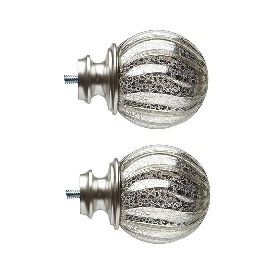 JCPenney Home Mix & Match Swirl Mercury Glass 2-pc. Finials