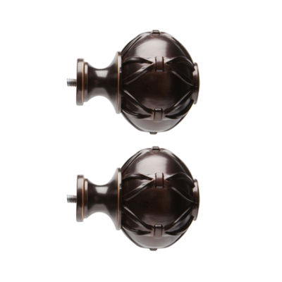 JCPenney Home Mix & Match Knotted Ball 2-pc. Curtain Rod Finials