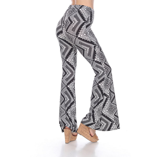 White Mark Printed Flare Pants