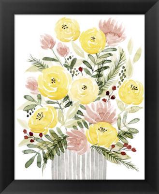 Metaverse Art Blush Bouquet I Framed Wall Art