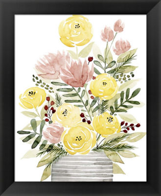 Metaverse Art Blush Bouquet II Framed Wall Art