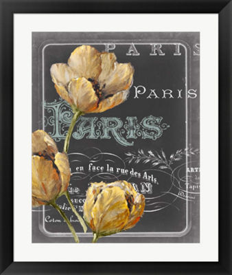 Metaverse Art Chalkboard Paris II Framed Wall Art
