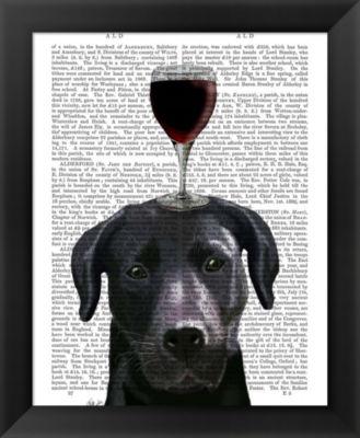 Metaverse Art Dog Au Vin Black Labrador Framed Wall Art