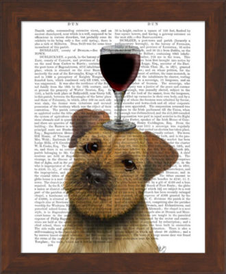 Metaverse Art Dog Au Vin Border Terrier Framed Wall Art