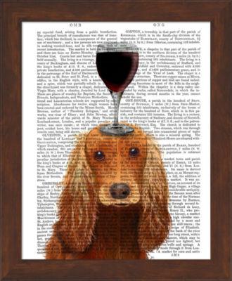 Metaverse Art Dog Au Vin Cocker Spaniel Framed Wall Art
