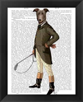 Metaverse Art Greyhound Rider Framed Wall Art