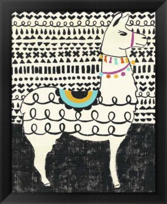 Metaverse Art Party Llama I Framed Wall Art