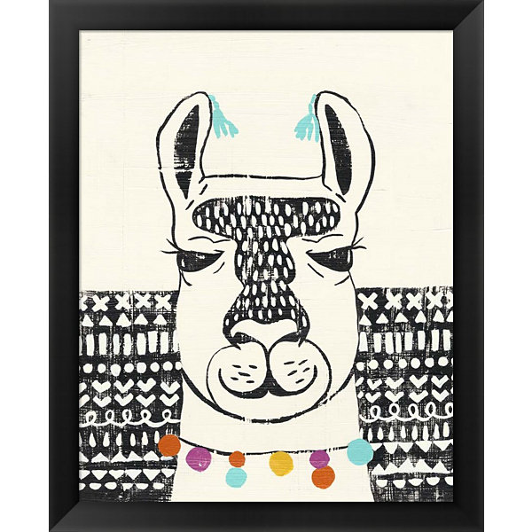 Metaverse Art Party Llama III Framed Wall Art