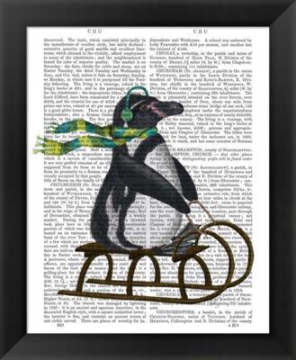 Metaverse Art Penguin On Sled Framed Wall Art