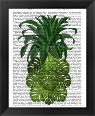 Metaverse Art Pineapple Monstera Leaf Framed WallArt