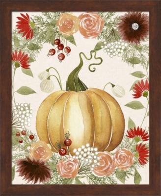 Metaverse Art Red Autumn I Framed Wall Art