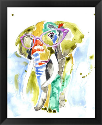 Metaverse Art Smarty-Pants Elephant Framed Wall Art