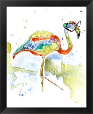Metaverse Art Smarty-Pants Flamingo Framed Wall Art
