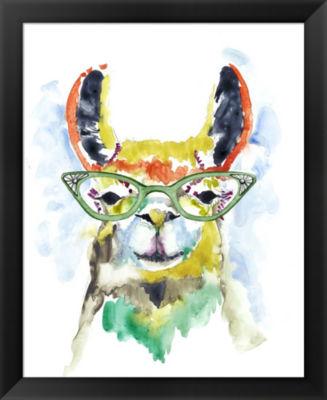 Metaverse Art Smarty-Pants Llama Framed Wall Art