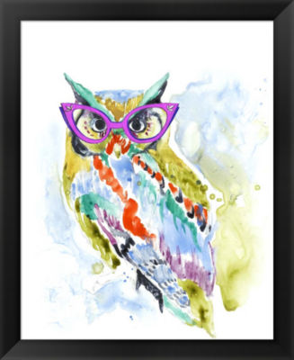Metaverse Art Smarty-Pants Owl Framed Wall Art
