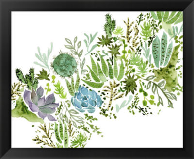 Metaverse Art Succulent Field I Framed Wall Art
