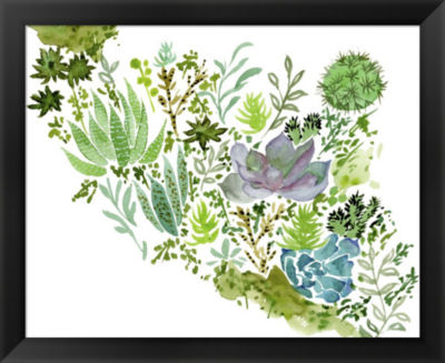 Metaverse Art Succulent Field II Framed Wall Art