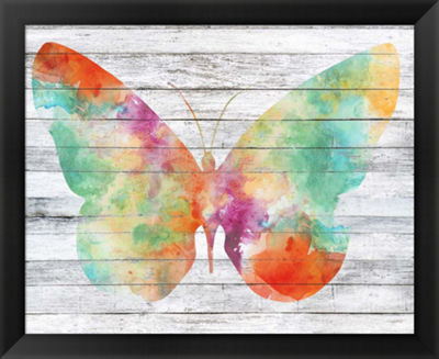 Metaverse Art Wings on Wood I Framed Wall Art