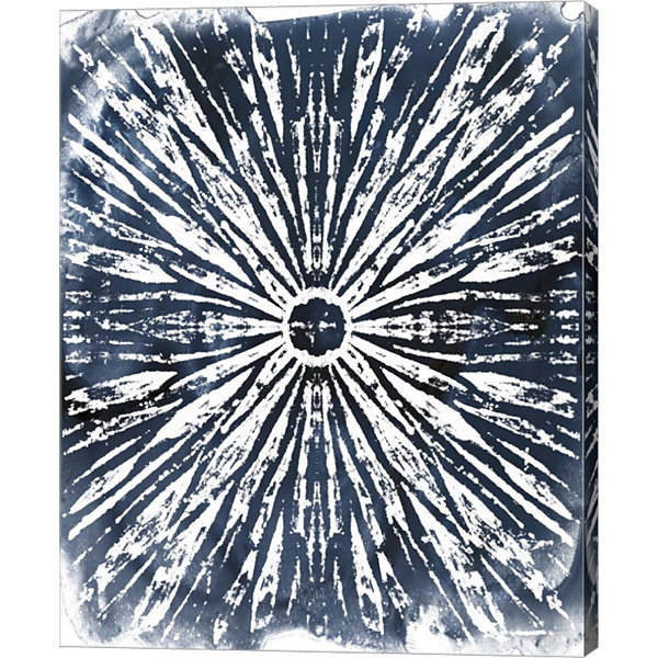 Metaverse Art Indigo Ink Motif I Canvas Wall Art