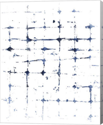 Metaverse Art Indigo Ink Motif VII Canvas Wall Art