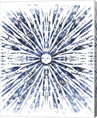 Metaverse Art Indigo Ink Motif VIII Canvas Wall Art