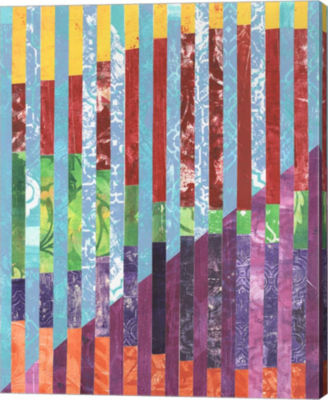 Metaverse Art Quilted Monoprints III Canvas Wall Art